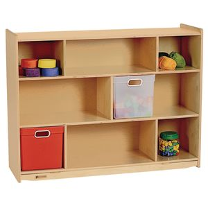 "MyPerfectClassroom® 36""H Divided Shelf Mobile Storage"
