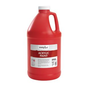 Acrylic Paint - 1/2 Gallon, Red