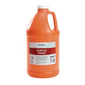 Acrylic Paint - 1/2 Gallon, Orange