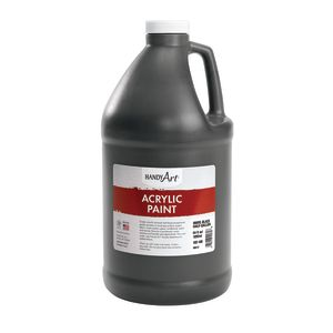 Acrylic Paint - 1/2 Gallon, Black