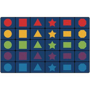 """Learning Shapes Seating Rug 7'6"""" x 12' Rect"""