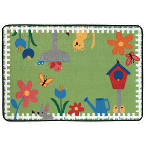 "Garden Time 3' x 4'6"" Rectangle Kids Value Carpet"