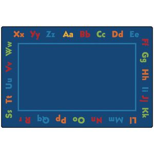 Alphabet 6' x 9' Rectangle Kids Value PLUS Carpet