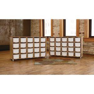 TrueModern® 20-Cubby Shelf Storage - White Trays