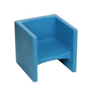 Cozy Woodland Cube Chair - Sky Blue