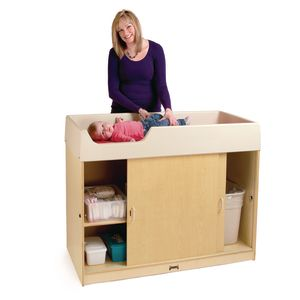 Jonti-Craft® Birch Changing Table with Doors