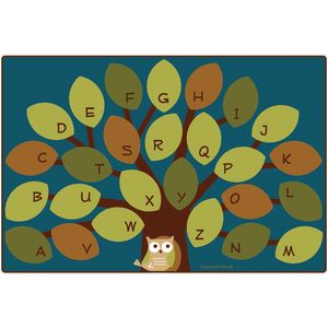 Owlphabet Rug - Rectangle, 4' x 6'