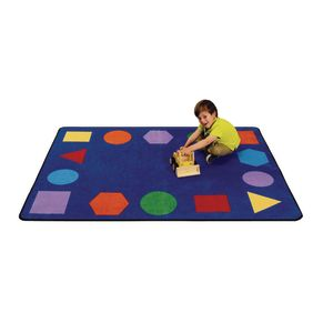 "Just Right Learning Rug, Shapes - 4'8"" x 5'10"" Rectangle"
