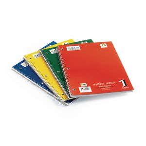 Spiral Notebooks, Assorted Colors - Set of 12