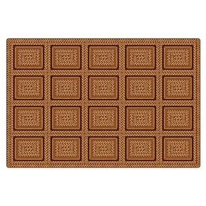 Environments® Medium Rectangle EarthTextures™ Braid Printed Carpet - 6' x 9'