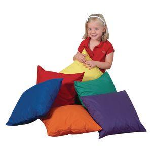"12"" Primary Color Mini Throw Pillows - Set of 6"