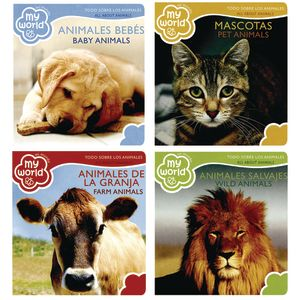 Bilingual My World Animals Board Books 4 Titles