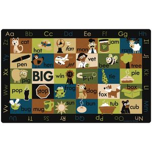 Rhyme Time Rug, Nature - 7'6