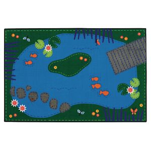 Tranquil Pond 4' x 6' Rectangle Kids Value Rug