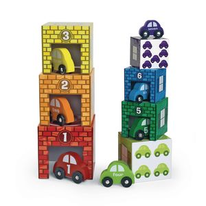 Nesting and Sorting Garages & Cars - 14 Pieces