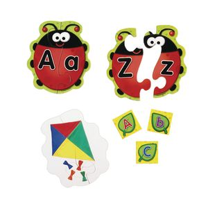 Ladybug Letters Game - Set of 26, 2-Piece Puzzles