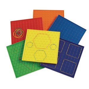 "Excellerations® 9"" Geoboards - Set of 6"