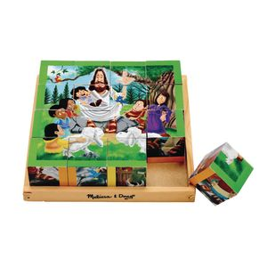 New Testament Wooden Cube Puzzle