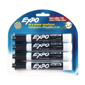 Expo® Chisel Tip Dry Erase Markers - Set of 4 Black