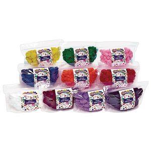 Colorations® Single Color Pom-Poms - Set of 10 Colors