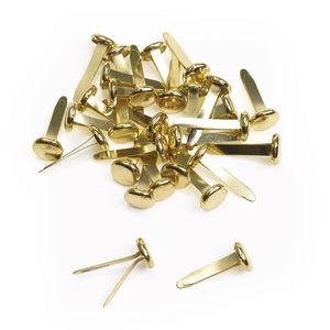 """3/4"""" Brass Plated Paper Fasteners - 30 Pieces"""