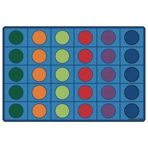 Seating Circles Rug - 6' x 9' Rectangle