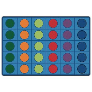 Seating Circles Rug - 8' x 12' Rectangle
