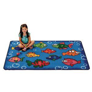 Something Fishy 4' x 6' Rectangle Kids Value Carpet