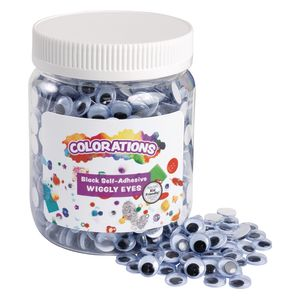 Colorations® Self-Adhesive Wiggly Eyes - 1,000 Pieces
