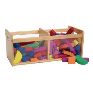 Environments® Toddler Easy View Birch Double Bin Storage Center