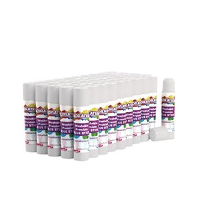 Colorations® Premium White Washable Glue Sticks, Set of 50, 0.17 oz each