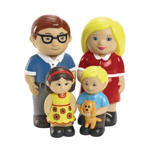 Excellerations® Our Soft Family Dolls - Caucasian Set of 4