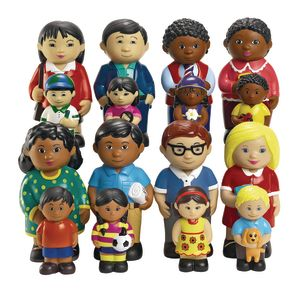 Excellerations® Our Soft Family Dolls - Set of All 4 Families