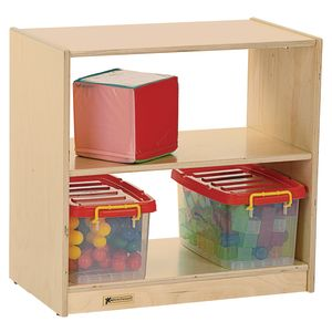 MyPerfectClassroom® Toddler Mini 2-Shelf Storage with Clear Back
