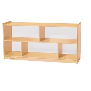 MyPerfectClassroom® Toddler 2-Shelf Storage with Clear Back