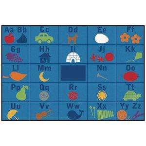 Alphabet Seating 6' x 9' Rectangle Kids Value PLUS Carpet