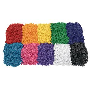 Single Color Pony Bead Packs - 1/2 lb.