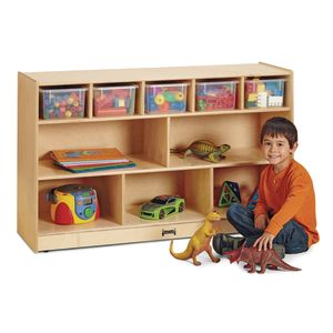 Jonti-Craft® Low Combo Mobile Storage - with Colored Bins