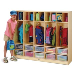 Jonti-Craft® Large Locker Organizer with 10 Colored Tubs