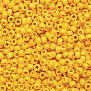 Yellow Pony Beads - 1/2 lb.