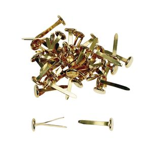 "1"" Brass Plated Paper Fasteners - 100 Pieces"