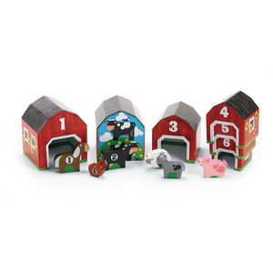 Nesting & Sorting Barns & Animals - 12 Pieces