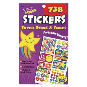 Super Stars & Smiles Sticker Pack - 738 Pieces
