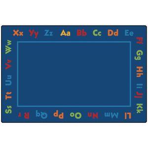 Alphabet 8' x 12' Rectangle Kids Value PLUS Carpet