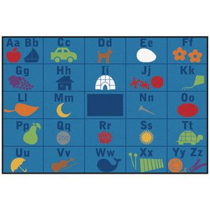 Alphabet Seating ValuePLUS™ Rug - 8' x 12' Rectangle