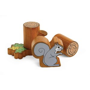 Excellerations® Tree and Squirrel Blocks - Set of 46