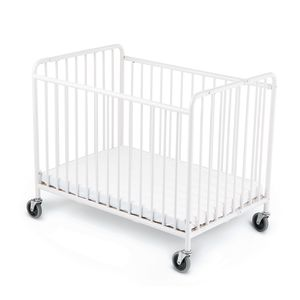 Foundations® StowAway™ Easy Roll™ Folding Steel Crib
