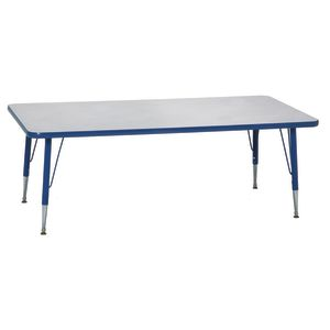 "Blue 18-25""H, 30"" x 72"" Rectangle Scholar Craft™ Activity Table"