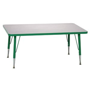 "Green 22-30""H, 24"" x 48"" Rectangle Scholar Craft™ Activity Table"
