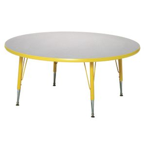 "Blue 22-30""H, 48"" Round Scholar Craft™ Activity Table"